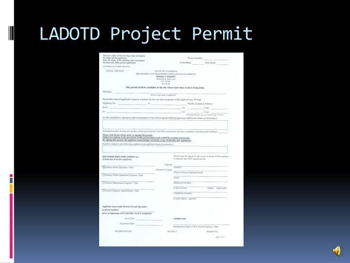 LADOTD Project Permit