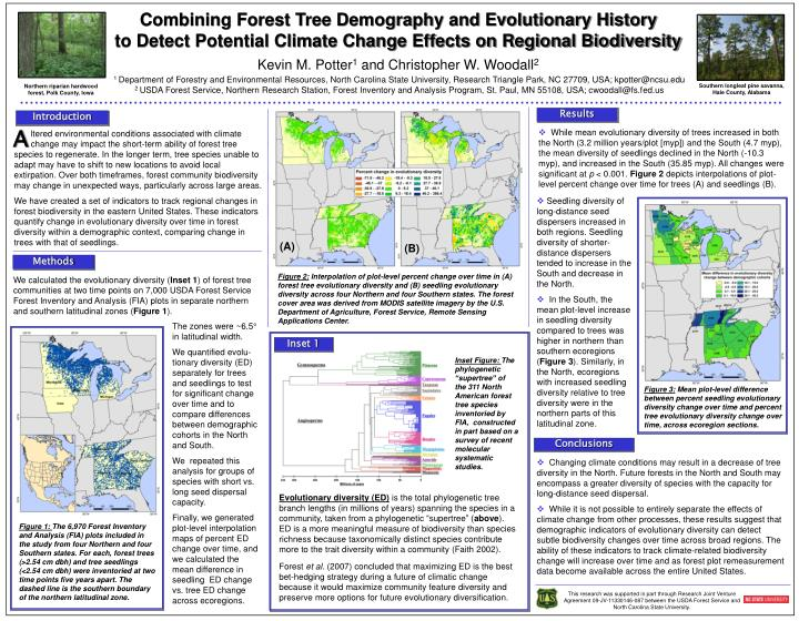 Combining Forest Tree Demography and Evolutionary History        to Detect Potential Climate Change ...