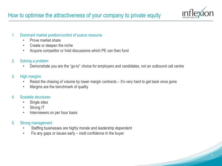 How to optimise the attractiveness of your company to private equity