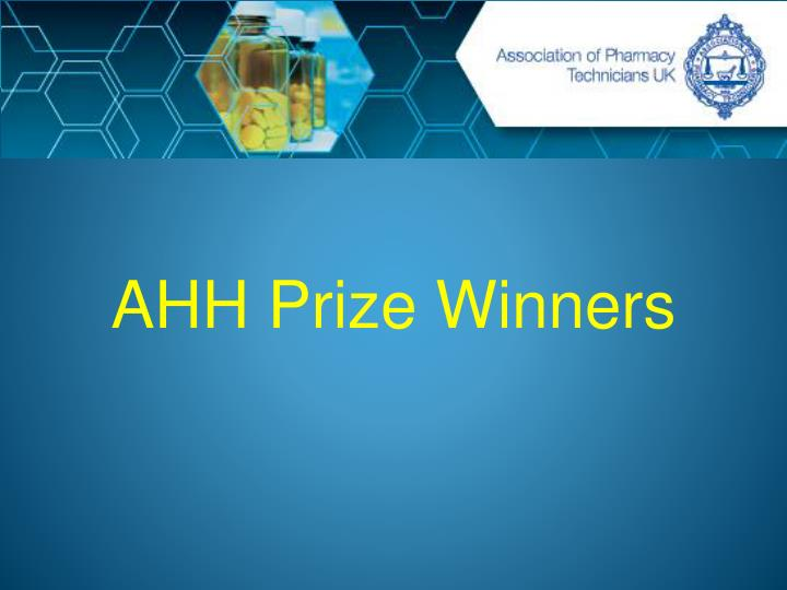 AHH Prize Winners