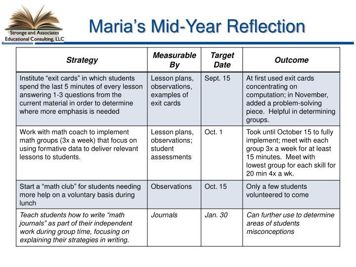 Maria's Mid-Year Reflection