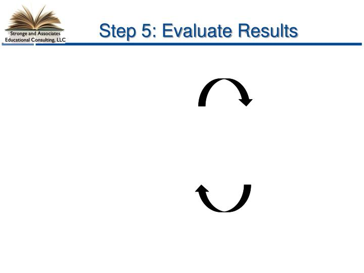 Step 5: Evaluate Results