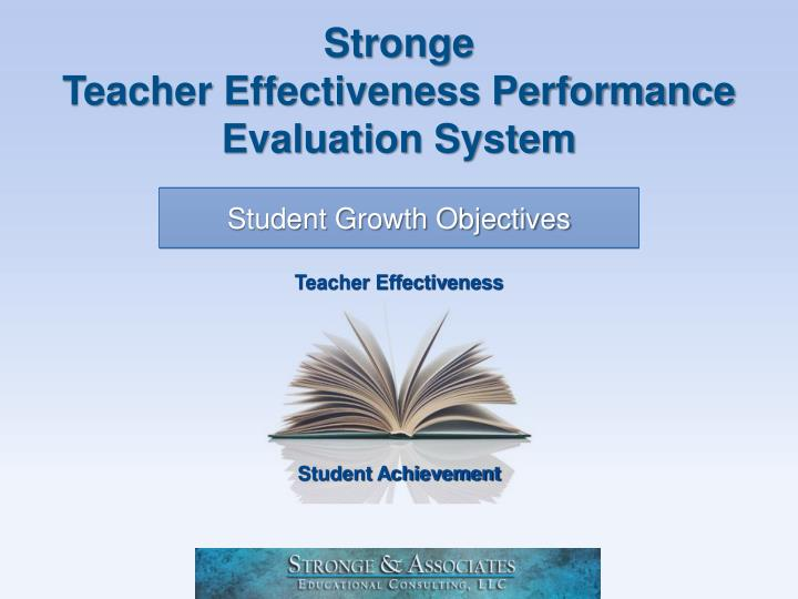 stronge teacher effectiveness performance evaluation system