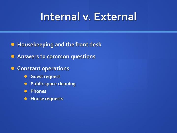 Internal v. External