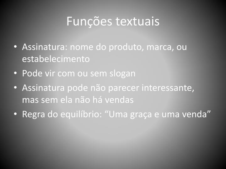 Funções textuais