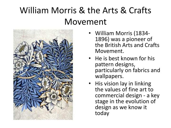 William morris the arts crafts movement