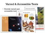 varied accessible texts