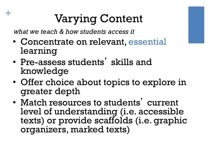 Varying Content