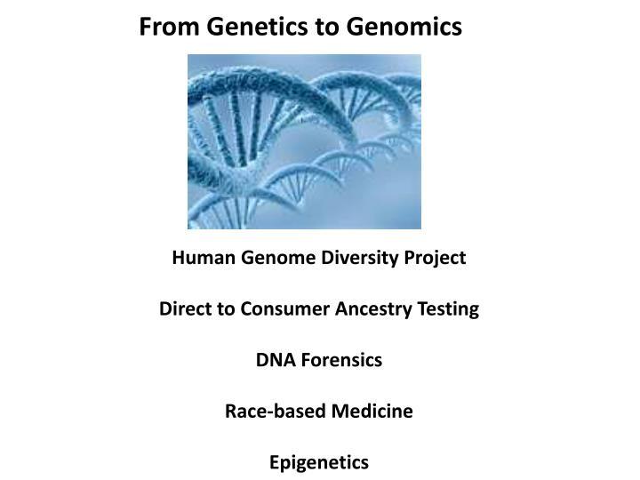 From Genetics to Genomics