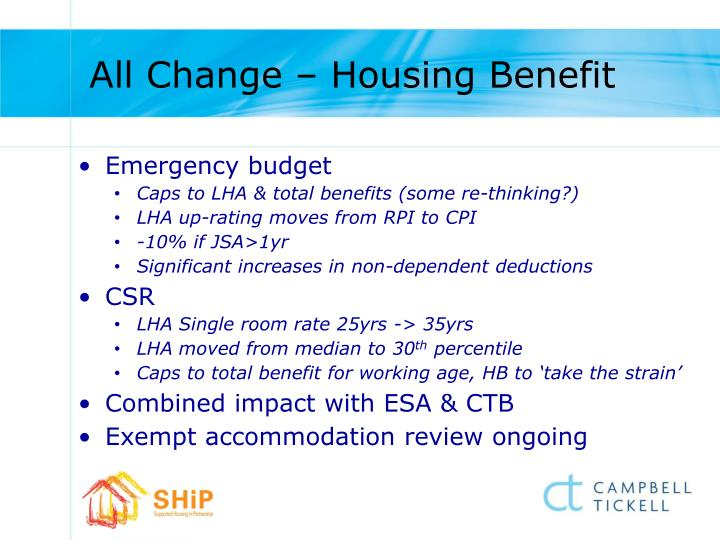All Change – Housing Benefit