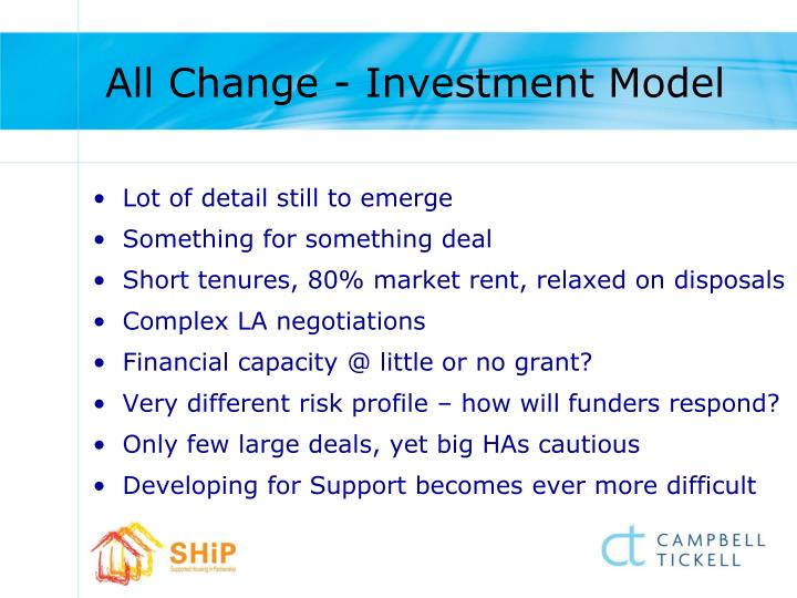 All Change - Investment Model