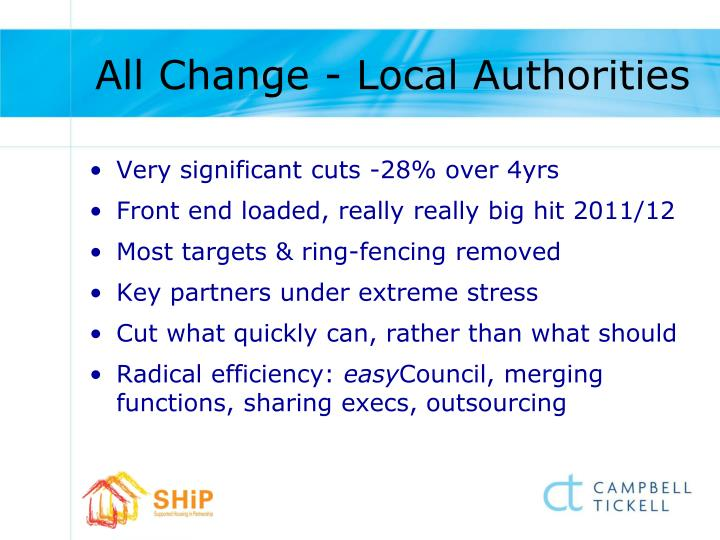 All Change - Local Authorities