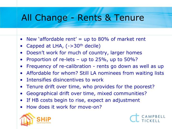 All Change - Rents & Tenure