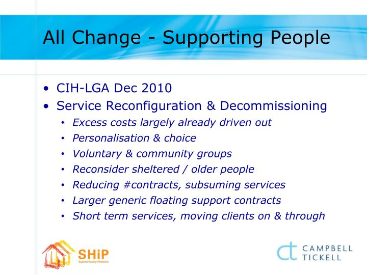 All Change - Supporting People