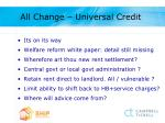 all change universal credit