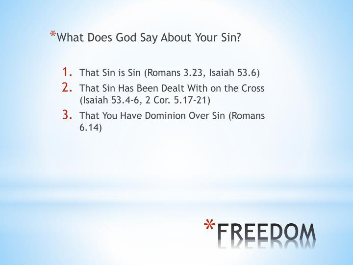 What Does God Say About Your Sin?