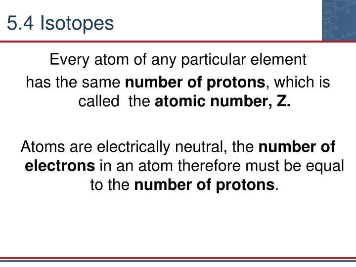 5.4 Isotopes