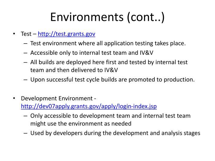 Environments (cont..)