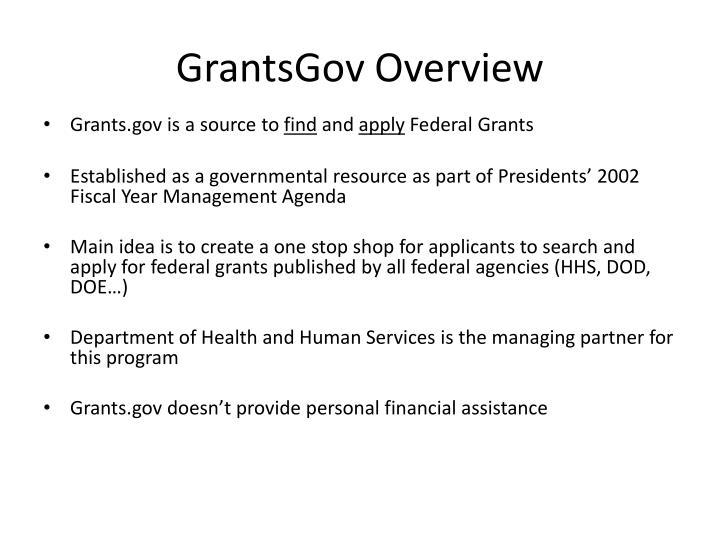 GrantsGov Overview