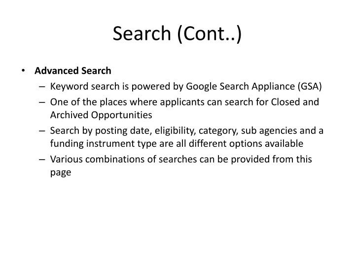 Search (Cont..)