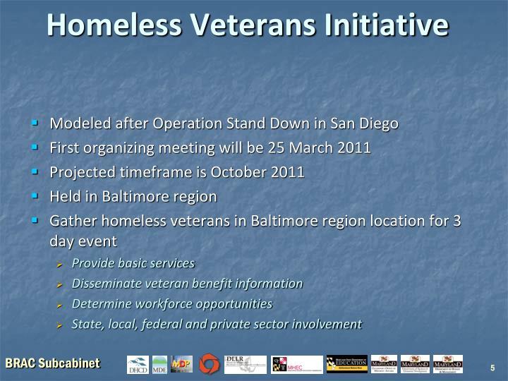 Homeless Veterans Initiative