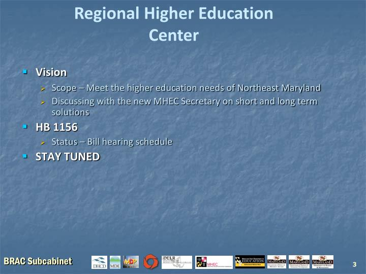 Regional Higher Education Center