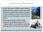 environmental experiences