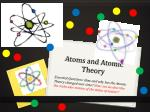 atoms and atomic theory1