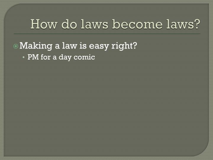 How do laws become laws?