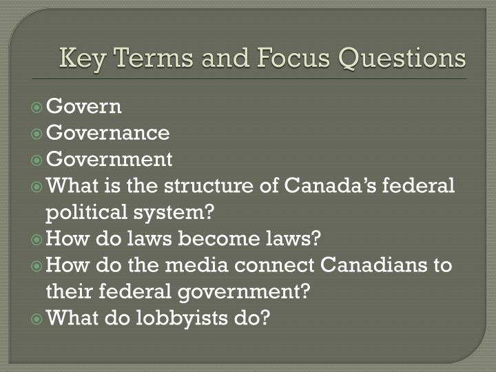 Key Terms and Focus Questions