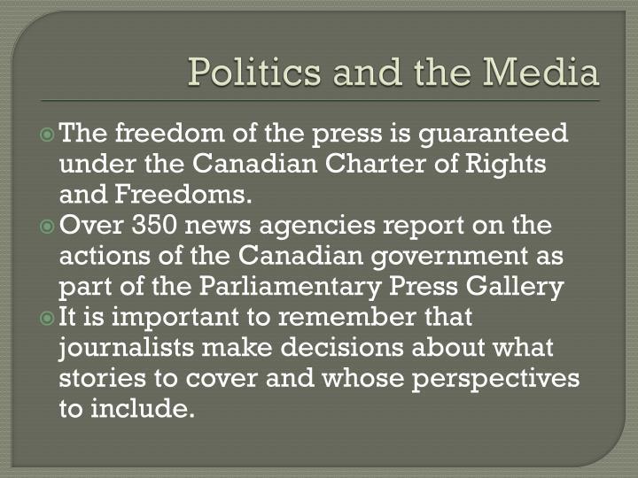 Politics and the Media