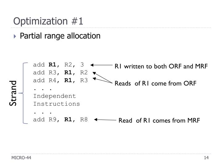 Optimization #1