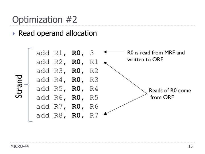 Optimization #2