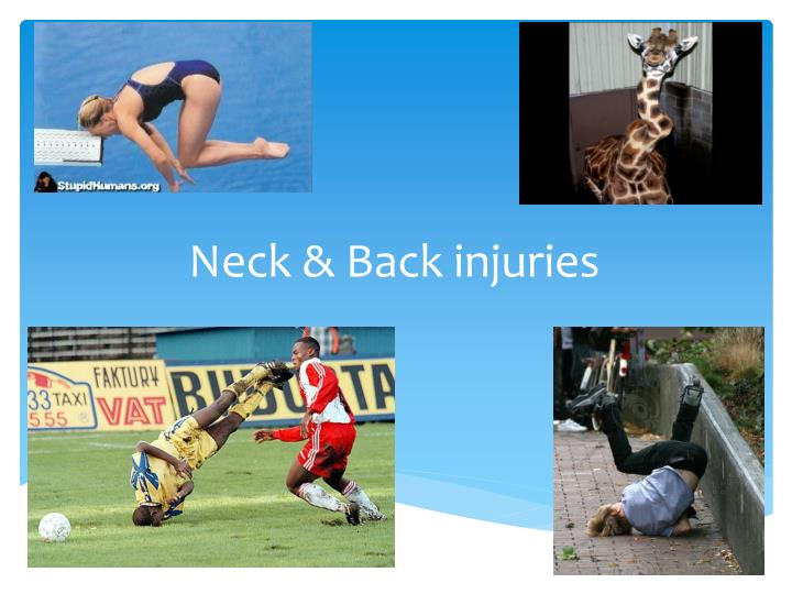 Neck back injuries