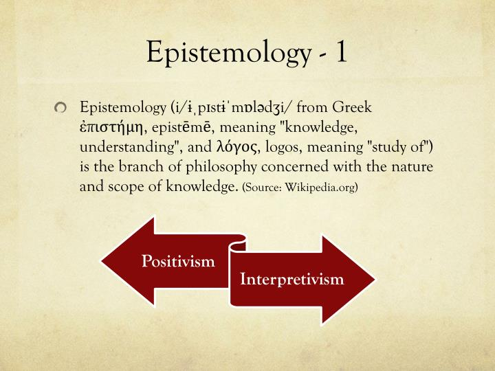 Epistemology - 1