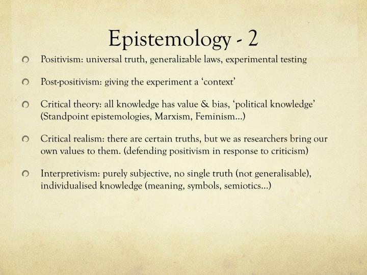 Epistemology - 2