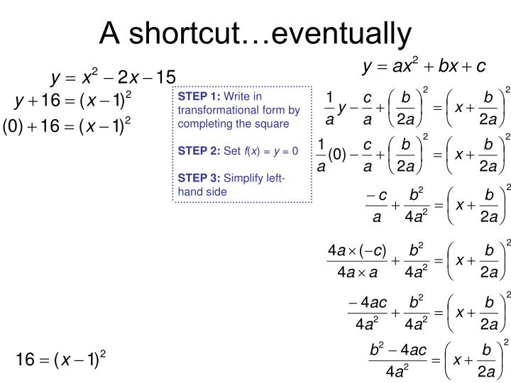 A shortcut…eventually