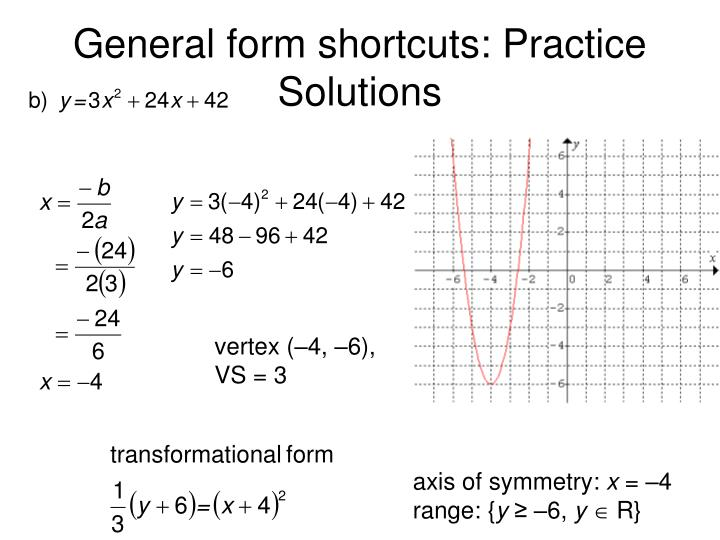 General form shortcuts: Practice