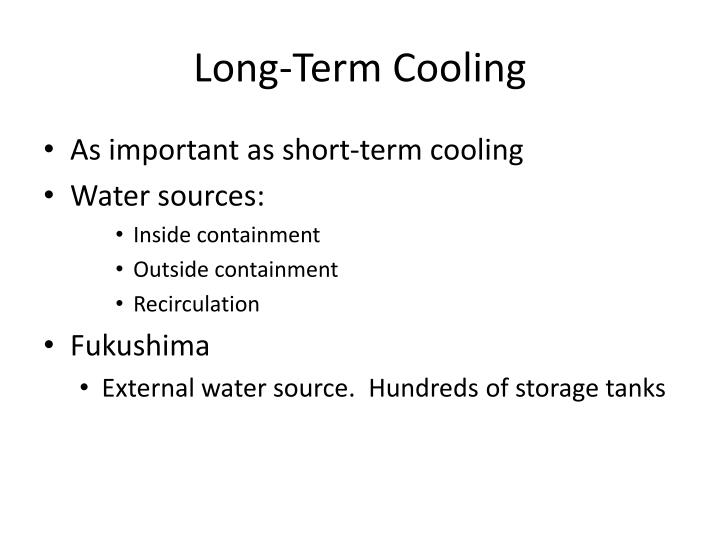 Long term cooling