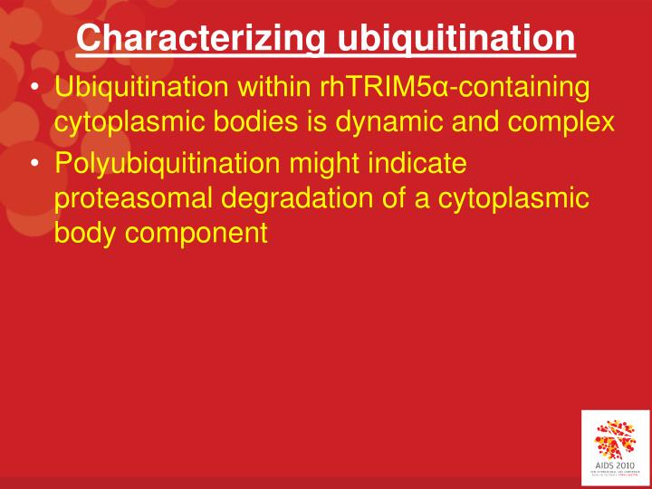 Characterizing ubiquitination