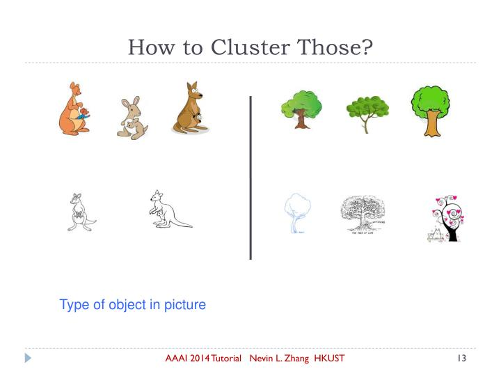 How to Cluster Those?