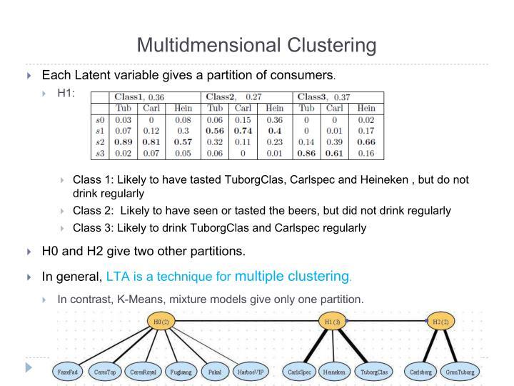 Multidmensional Clustering