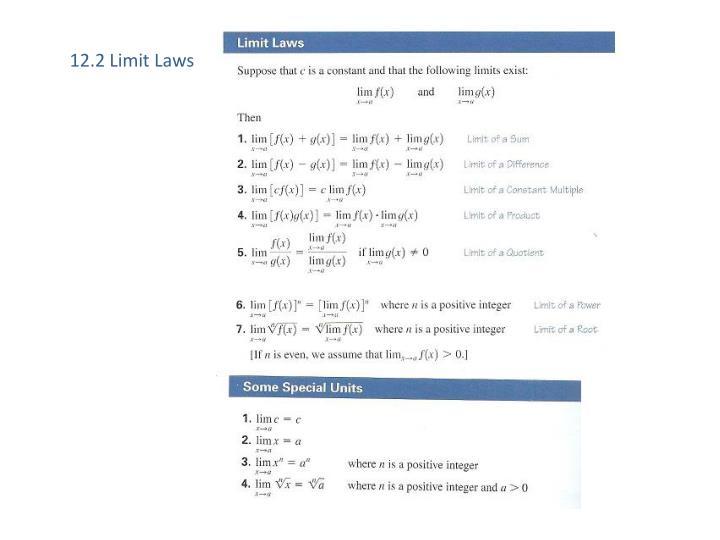12.2 Limit Laws