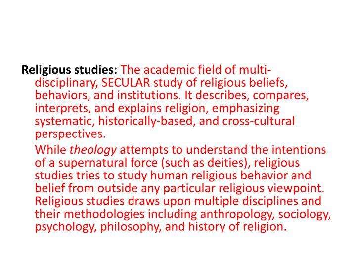 Religious studies: