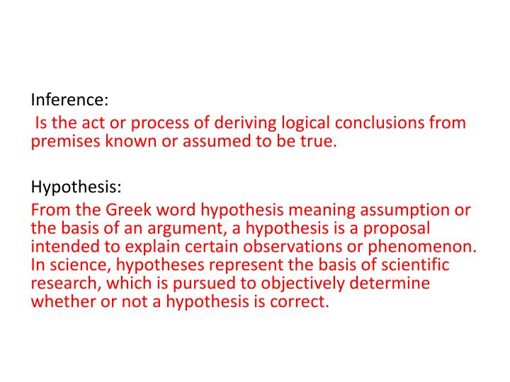Inference: