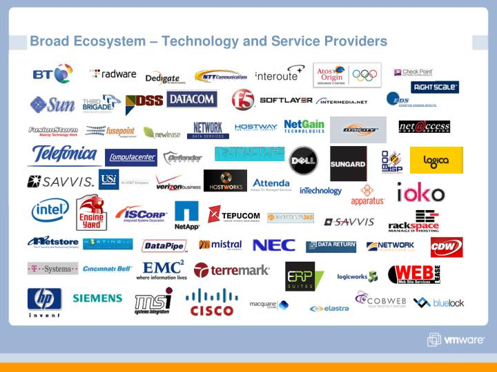 Broad Ecosystem – Technology and Service Providers