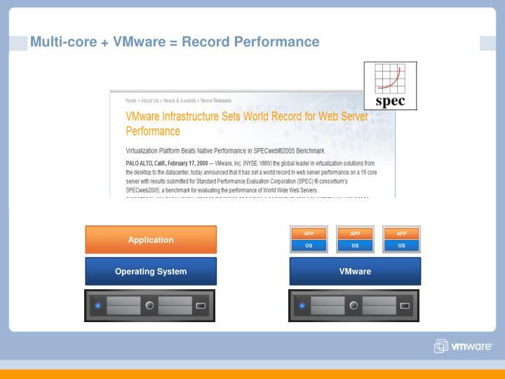 Multi-core + VMware = Record Performance