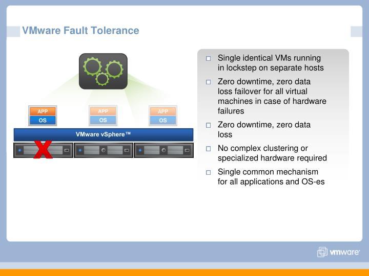VMware Fault Tolerance
