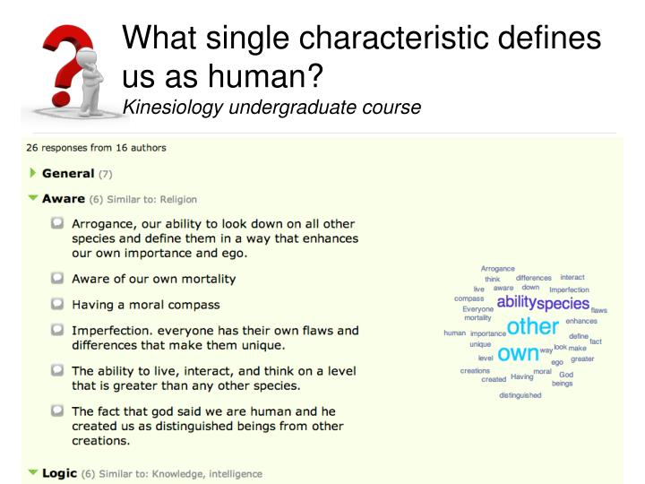 What single characteristic defines us as human?