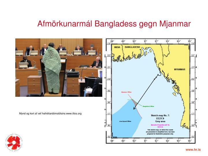 Afmörkunarmál Bangladess gegn Mjanmar
